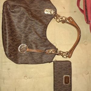 Michael kors hand bag and wallet!!